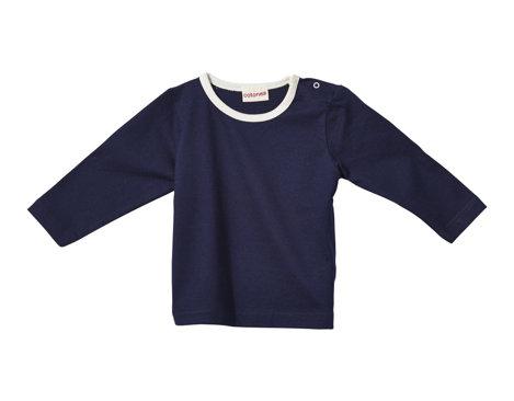 4951138d2b15 T-Shirt mit langen Armen für Babys und Kleinkinder aus Bio Baumwolle in  Marine Blau