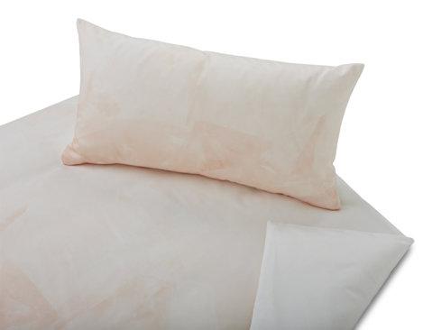 05a44bb9406671 Bio Bettwäsche im Rosenquarz Design als Garnitur mit Kissen und Bettbezug