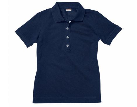 908b38ccd6c9 Gelegtes Polo-Shirt für Damen aus Bio-Baumwolle in Marine Blau