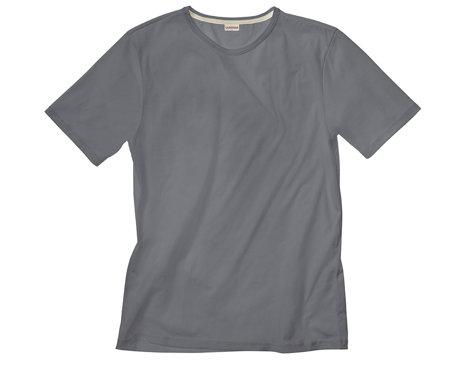 180085360da3 T-Shirt mit Rundhals für Männer aus Bio-Baumwolle gelegt in Anthrazit