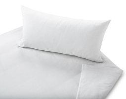 fbbc158a9c016f Satin Bettwäsche aus Bio-Baumwolle Garnitur in Weiß ohne optische Aufheller