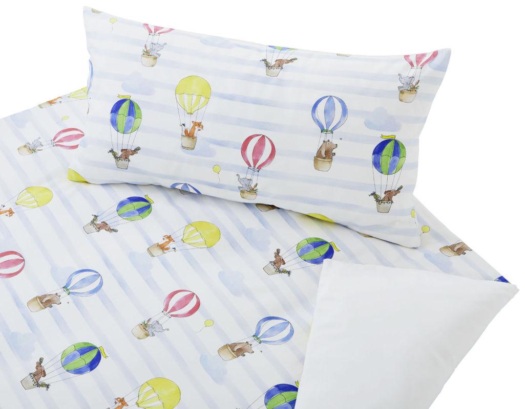 Bio Kinderbettwäsche Mit Bunten Heißluftballonen Cotonea