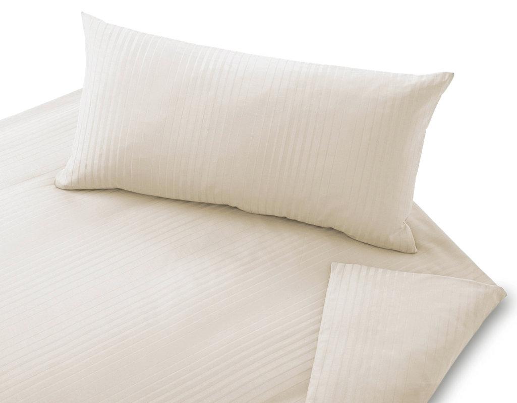 bio bettw sche aus damast mit streifen webmuster cotonea. Black Bedroom Furniture Sets. Home Design Ideas