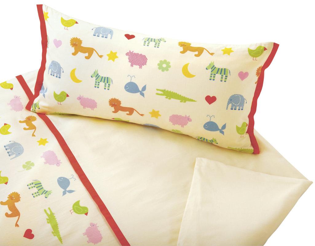 Bio Kinderbettwäsche Aus Satin Mit Bunten Tiermotiven Cotonea